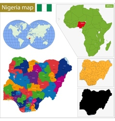 Nigeria map vector