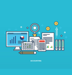 reporting types methods of economic accounting vector image vector image