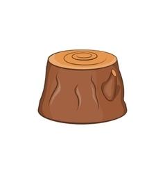 Tree stump icon cartoon style vector image vector image