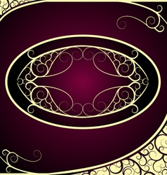 Vintage Golden Frame Background vector image vector image