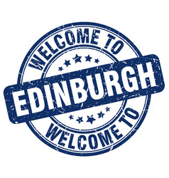 Welcome to edinburgh vector