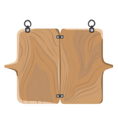 Wooden board with fastener vector