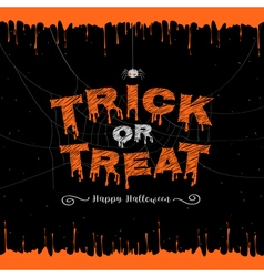 Happy halloween trick or treat banner vector