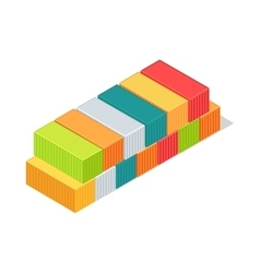 Set of cargo boxes isometric 3d container delivery vector