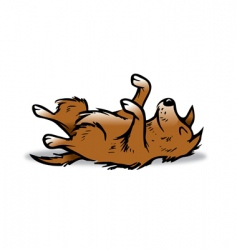 dog playing dead vector image