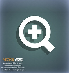 Magnifier glass zoom tool icon symbol on the vector