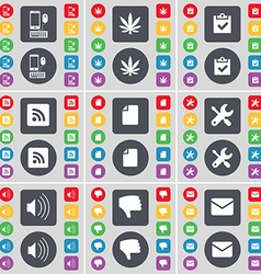 Smartphone marijuana survey rss file wrench sound vector