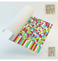 A4 Business Blank Abstract Geometric Background vector image