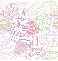 Cake seamless background vector