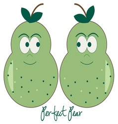 Perfect pear vector