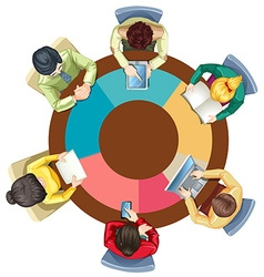 People meeting on the round table vector