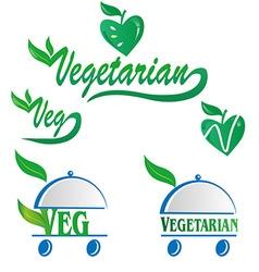 Vegetarian and veg symbol vector