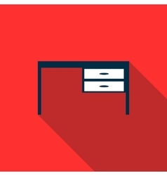 Table icon flat style vector