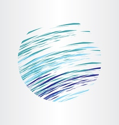 Abstract blue water circle background design vector