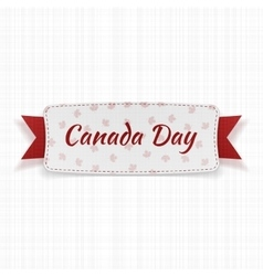 Canada Day festive Label with Text and Ribbon vector image