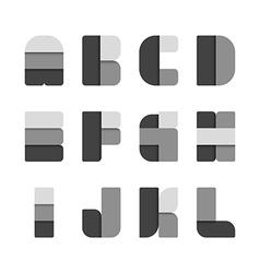 Alphabet set paper black colour style vector image vector image