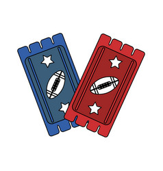 american football tickets design vector image vector image