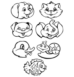 animals cartoon vector image