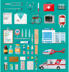 Big medical set vector