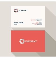 Business card qualitative elegant logo and vector