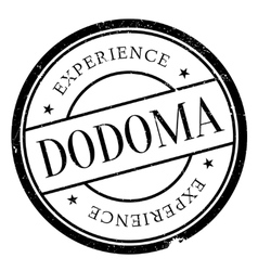 Dodoma stamp rubber grunge vector image vector image
