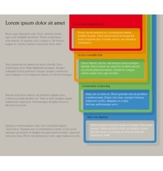 Four consecutive frame elements with lots of room vector image vector image