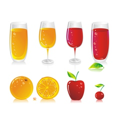 fruit drinks vector image vector image