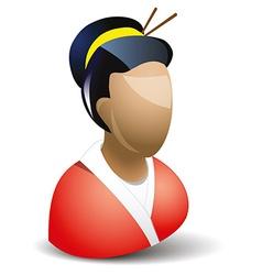 Geisha icon vector image