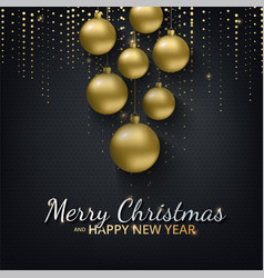 greeting card invitation with happy new year 2018 vector image