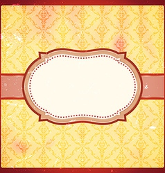 Grungy vintage frame vector image vector image