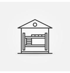Hostel linear icon vector