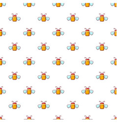 Jar of honey pattern seamless vector