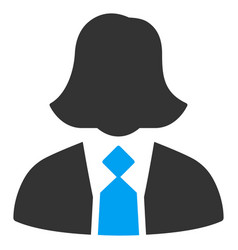 Lady manager flat icon vector