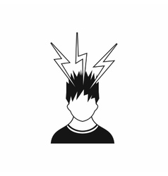 Lightning above the head of man icon simple style vector