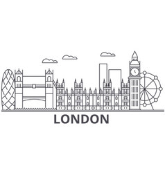 London architecture line skyline vector