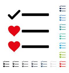 Love list icon vector