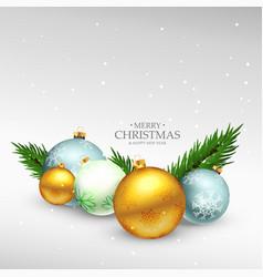 Merry christmas festival greeting card design vector