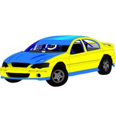 Modified sedan speedway car vector
