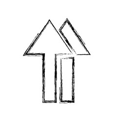 Monochrome blurred silhouette of symbol handling vector
