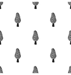 Morel icon in black style isolated on white vector