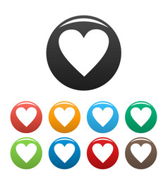 new heart icons set simple vector image vector image
