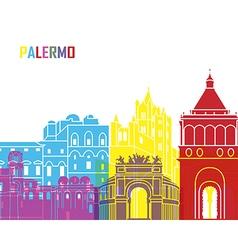 Palermo skyline pop vector