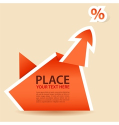 paper origami arrow element vector image
