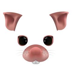 Rat face parts photo-realistic vector
