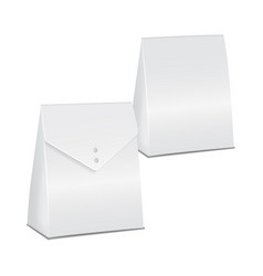 Realistic white 3d model set cardboard take away vector