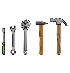 repair tools vector image vector image