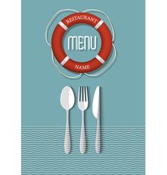 Retro menu design for seafood restaurant variation vector
