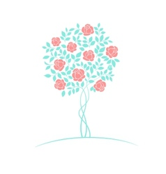 Rose tree logo vector image vector image