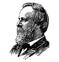 Rutherford b hayes vintage vector