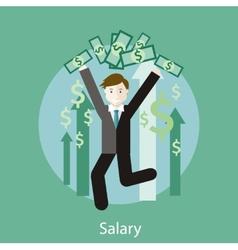 Salary concept vector